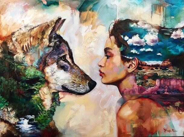 drawing-nature-wolf-woman-Favim.com-4514257